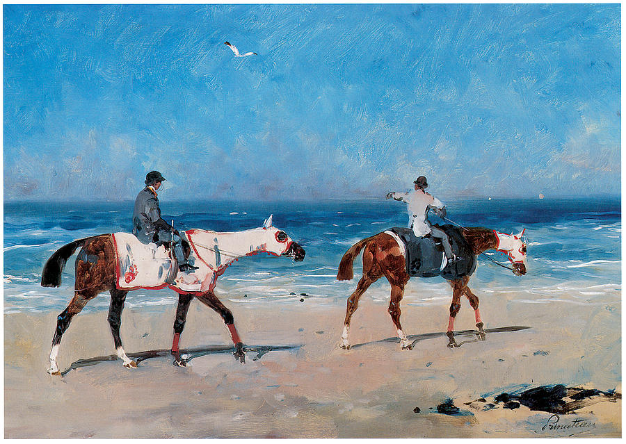 Race horses on the beach painting by rene princeteau beach painting race horses on the beach by rene princeteau publicscrutiny Gallery