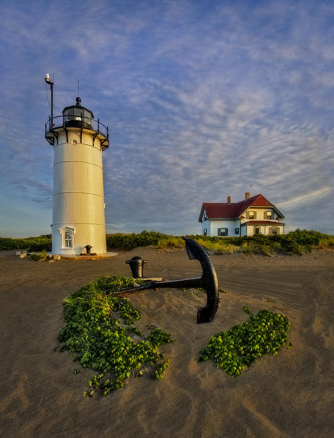 Lighthouse Anchor Photograph - Race Point Lighthouse by Susan Candelario