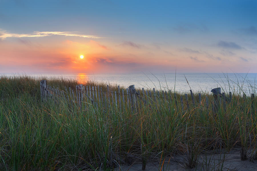 New England Seascape Photograph - Race Point Sunset by Bill Wakeley
