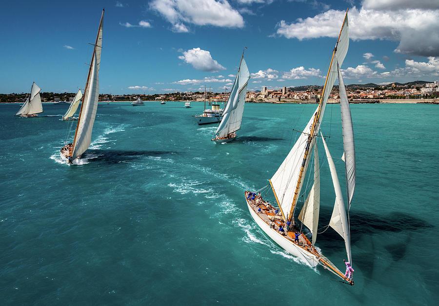 Antibes Photograph - Race Start by Marc Pelissier