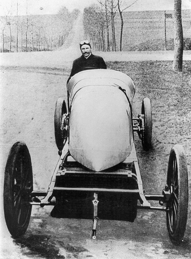 1906 Photograph - Racecar Driver, C1906 by Granger