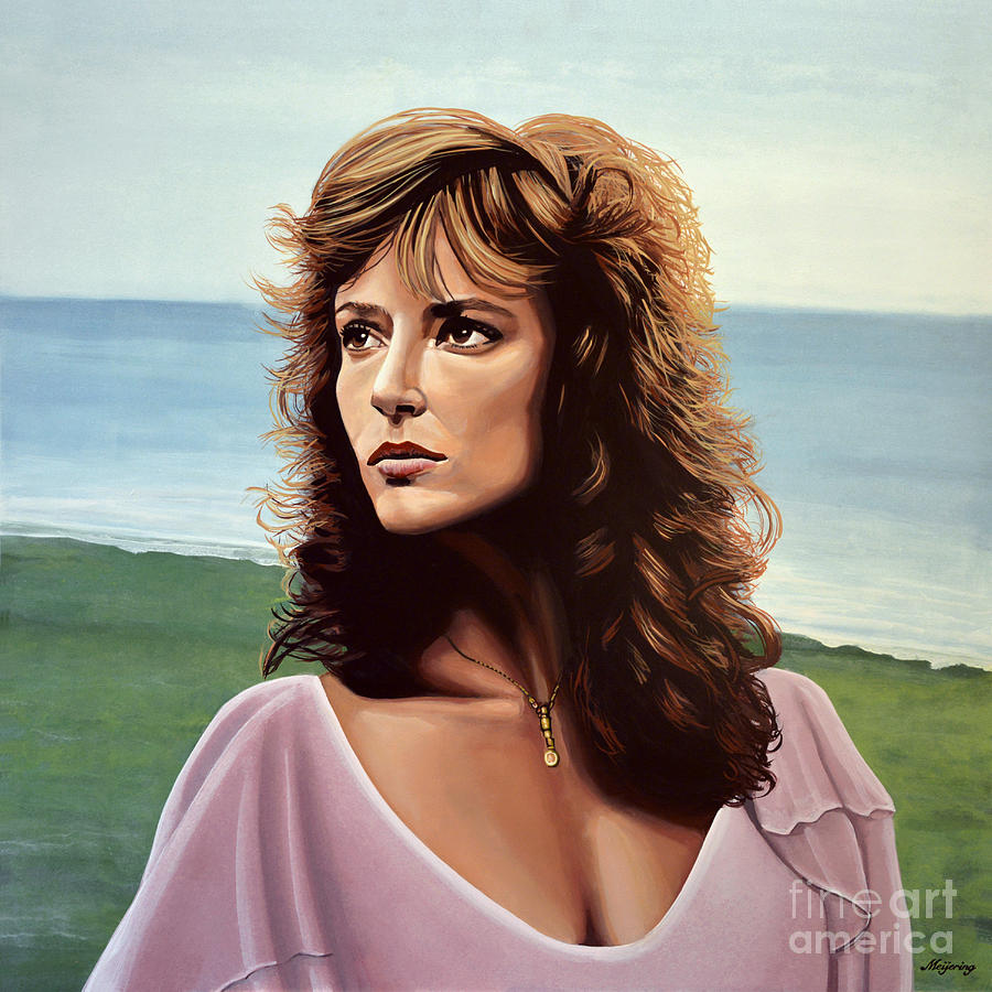 Rachel Ward Painting - Rachel Ward by Paul Meijering