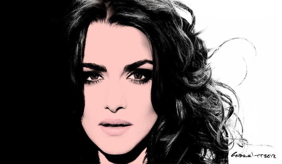 Actress Digital Art - Rachel Weisz by Gabriel T Toro