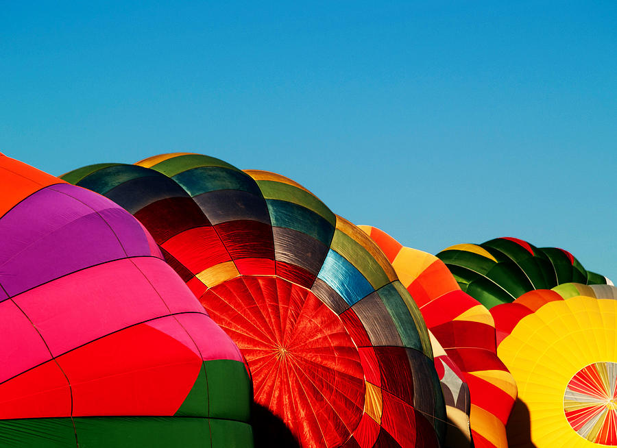 Reno Photograph - Racing Balloons by Bill Gallagher