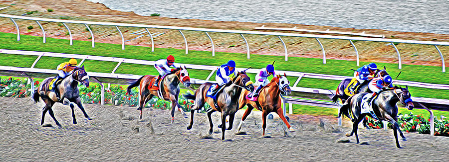 Racing Horses by Christine Till