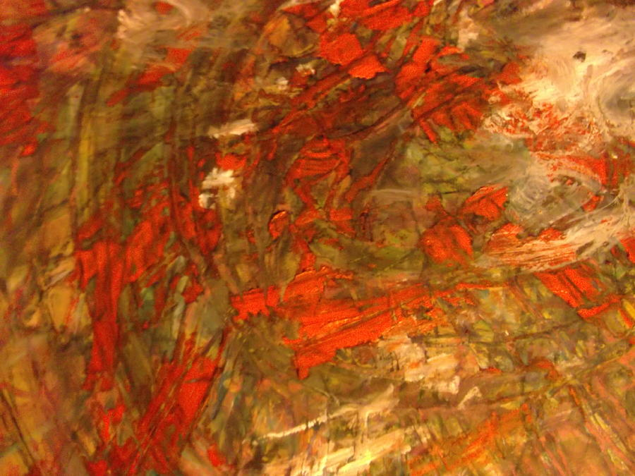 Layer Upon Layer Of Color And Movement....light Brown Painting - Raconteur by Karen Lillard
