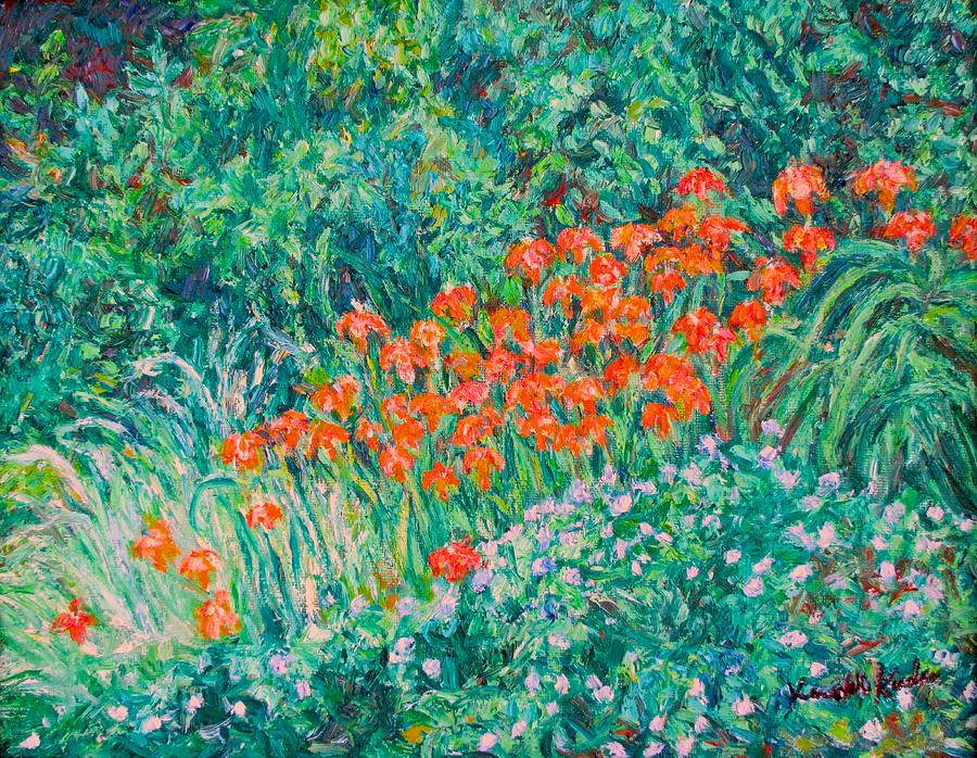 Flowers Painting - Radford High Day Lilies by Kendall Kessler
