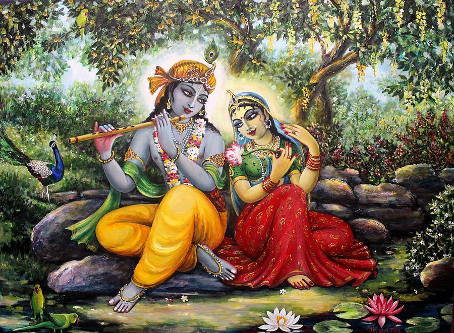 Radha Krishna Painting By Anjana Das