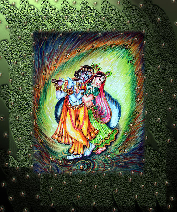 Radha Krishna Painting By Harsh Malik
