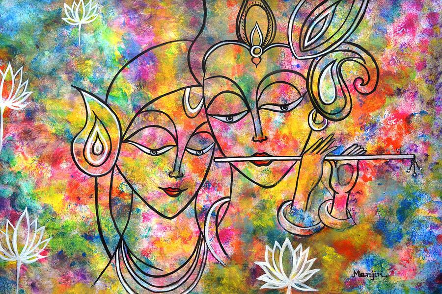 Resultado de imagen para radha krishna paintings