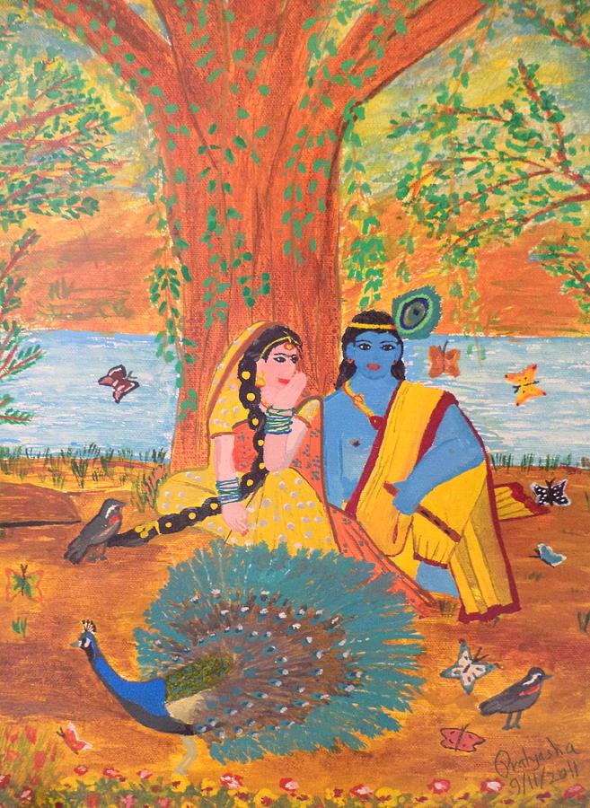 Radha-krishna Painting by Pratyasha Nithin
