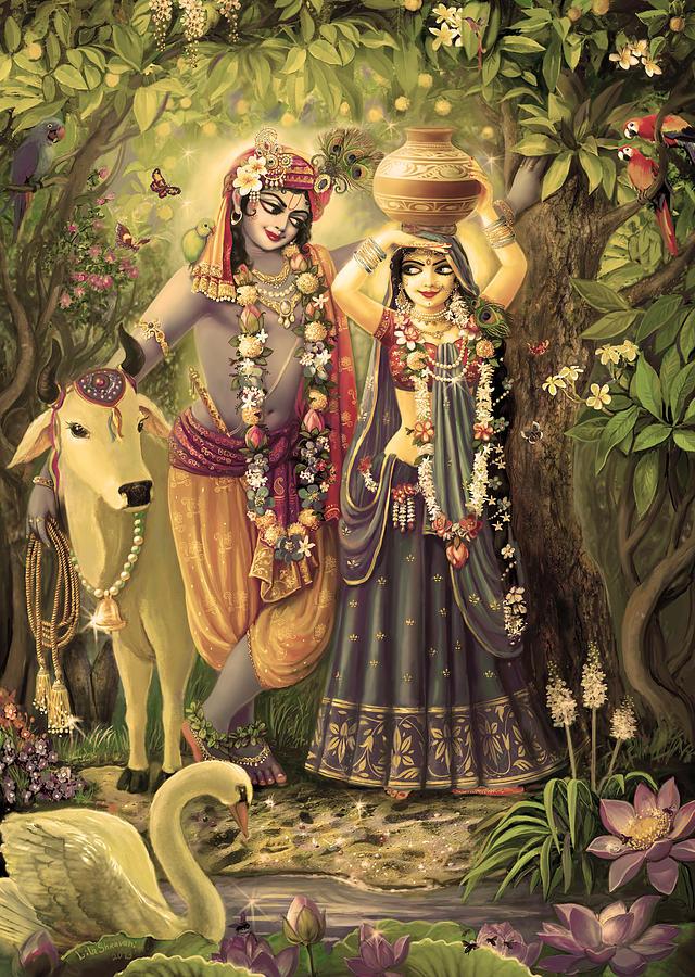 Radha-krishna Painting - Radha-krishna Radhakunda 2 by Lila Shravani