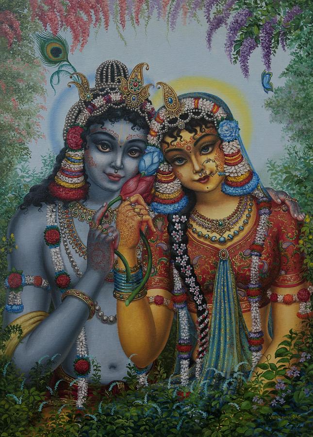 Krishna Painting - Radha Kunjabihari by Vrindavan Das