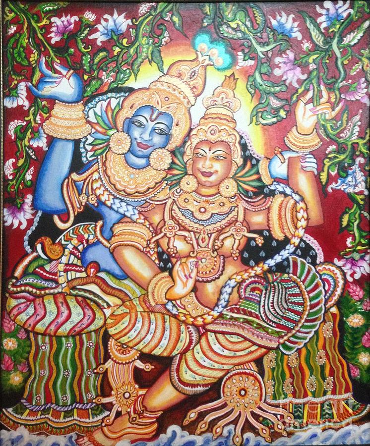 Kerala Painting - Radheshyam by Jayashree