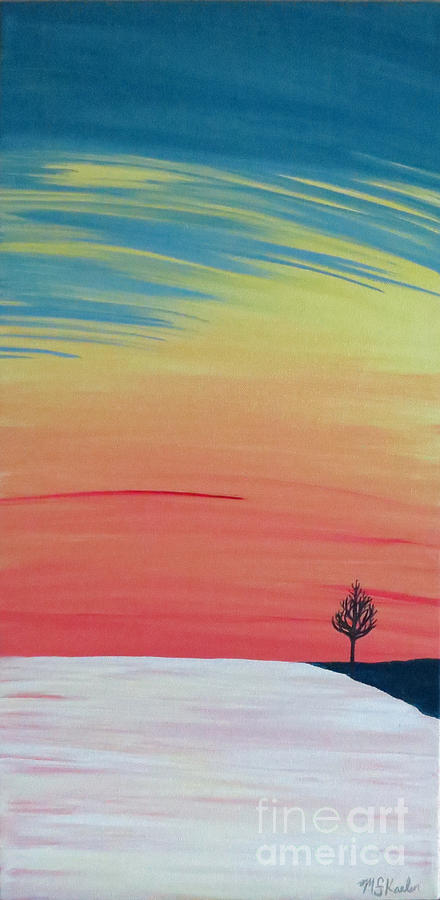 Ice Painting - Radiance On Ice by Melissa F Kaelin