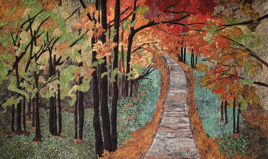 Autumn Leaves Painting - Radiant Beauty by Anita Jacques