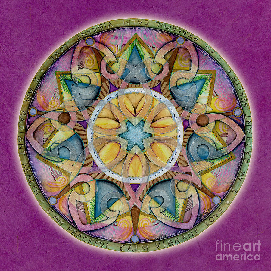 Radiant Health Mandala by Jo Thomas Blaine