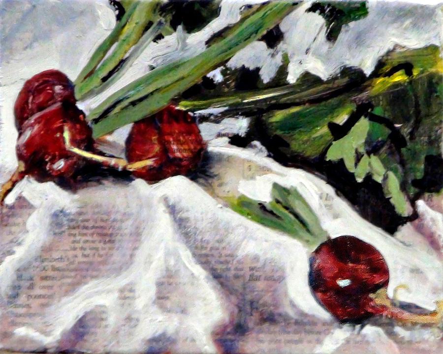 Radishes Painting - Radiant Radishes by Gaye White