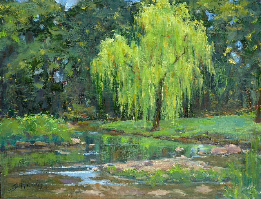Weeping Willow Painting - Radiant Willow by Sandra Harris