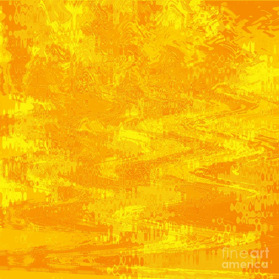 Yellow Photograph - Radiating Sunshine Colors - Abstract Art by Carol Groenen