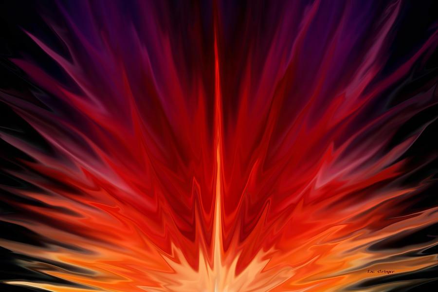 Energy Painting - Radient 2 by Tim Stringer