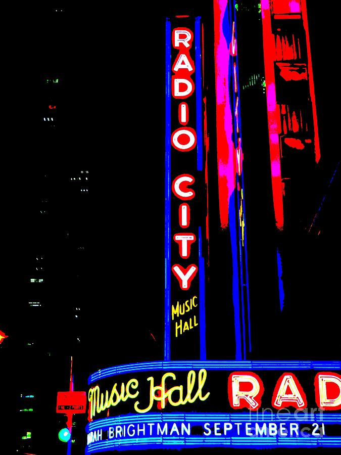 Pop Art Photograph - Radio City Music Hall by Ed Weidman
