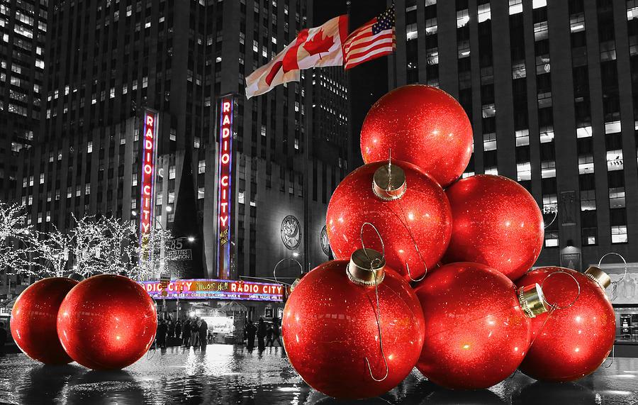 Holiday Season Photograph - Radio City Music Hall In January  by Lee Dos Santos