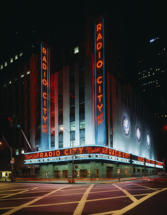 Radio City Photograph - Radio City Music Hall In New York City by Mountain Dreams