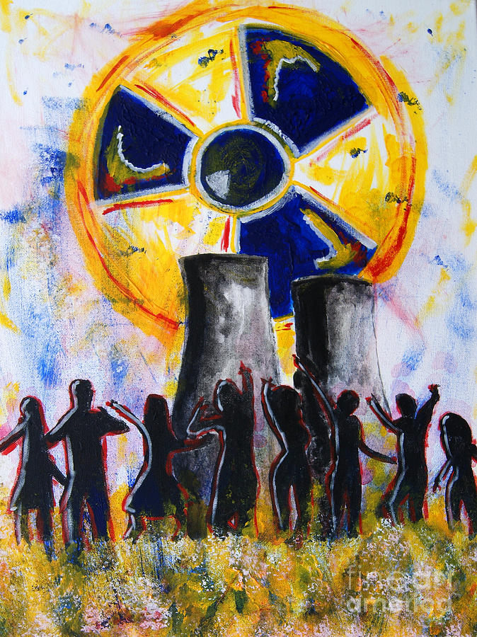 Radioactive Painting - Radioactive - New Generation by Michael Rados