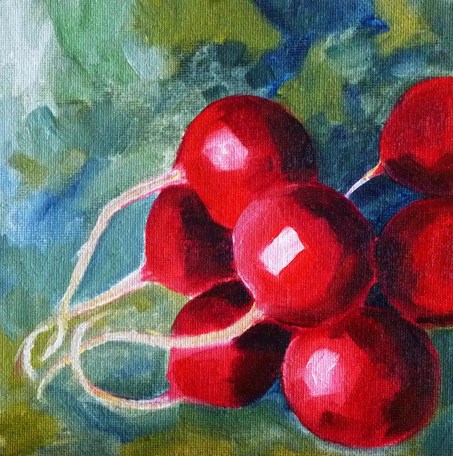 Radish Painting - Radish by Nancy Merkle