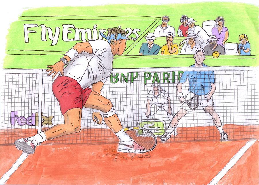 Rafael Nadal Painting - Rafa Vs. Novak by Steven White