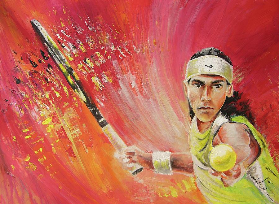 Sports Painting - Rafael Nadal by Miki De Goodaboom