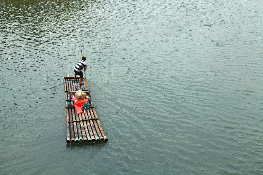 Raft In River Photograph by Nisa And Ulli Maier Photography