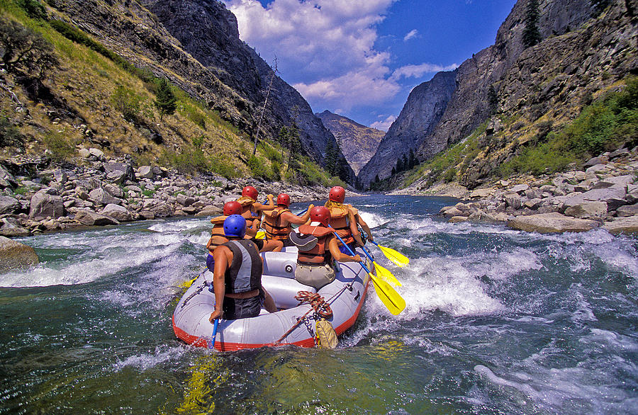 Rafting the Middle Fork of the Salmon Photograph by Steve Bly