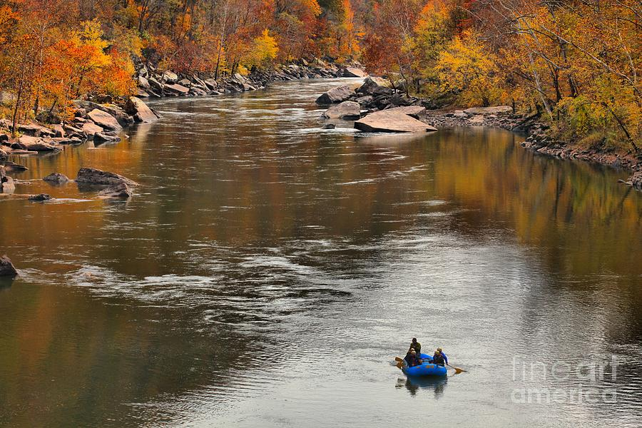 Rafting The New River Photograph