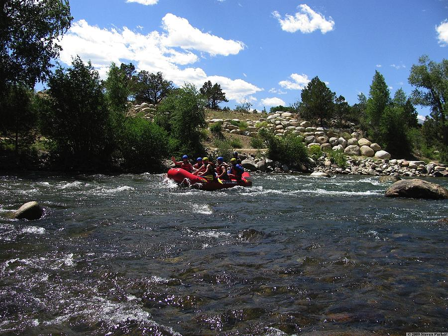 Transportation Photograph - Rafting The River by Steven Parker