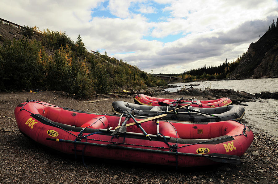 Alaska Photograph - Rafts And The Nenana River, Denali by Michel Hersen