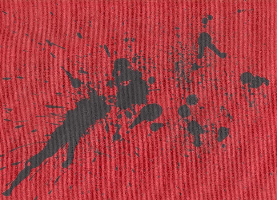 Red Painting - Rage Drip Art by Jill Christensen