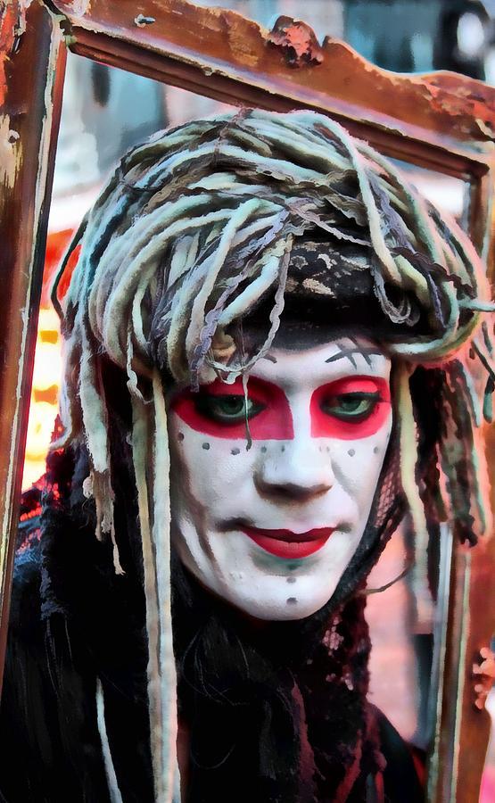 Street Mime Photograph - Raggedy Ann by James Stough