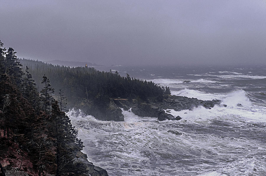 West Quoddy Head Lighthouse Photograph - Raging Fury At Quoddy by Marty Saccone
