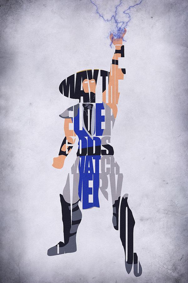 Raiden Digital Art - Raiden - Mortal Kombat by Inspirowl Design