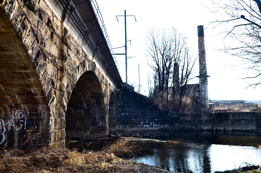 Rail Photograph - Rail Road Bridge Over The Brandywine Creek Downingtown Pa by Bill Cannon