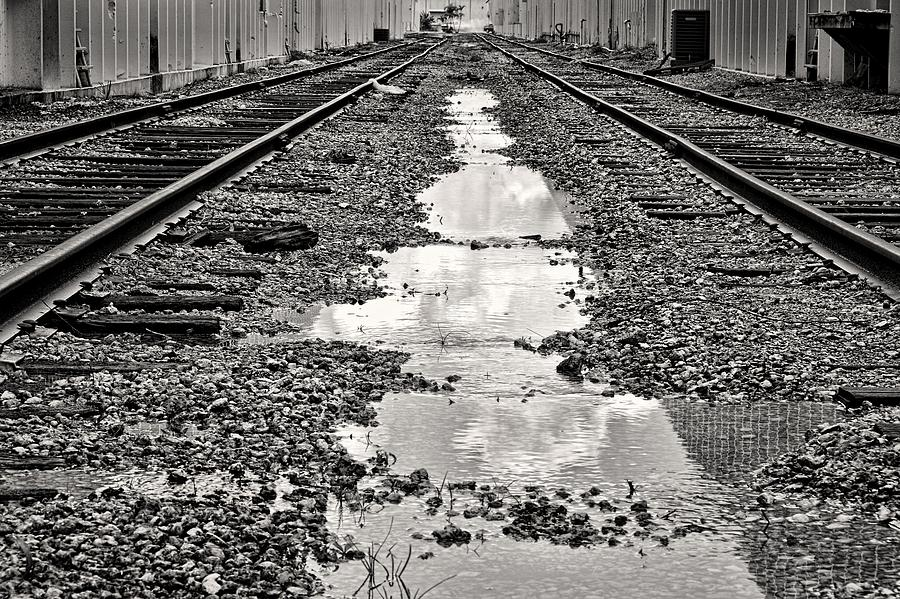 Railroad Photograph - Railroad 5715bw by Rudy Umans