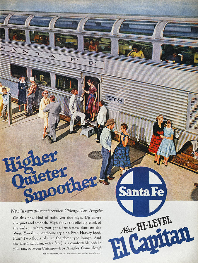 1957 Photograph - Railroad Ad, 1957 by Granger