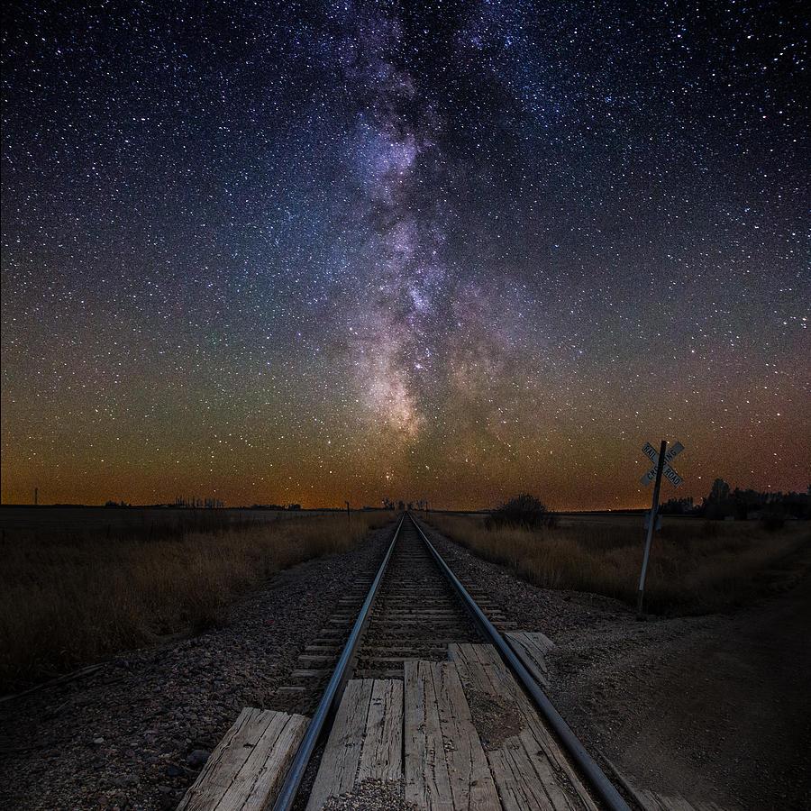 Railroad Crossing Photograph