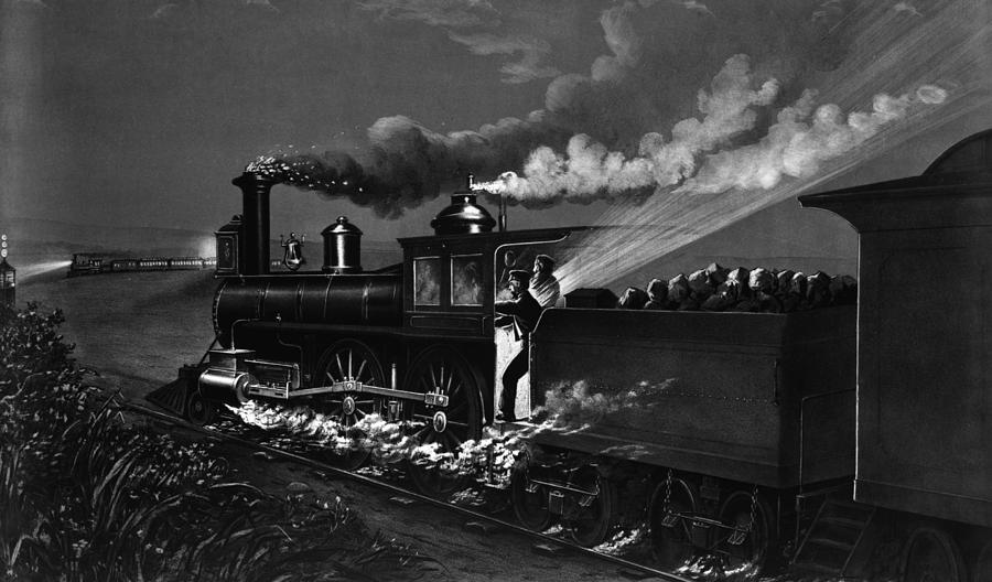1884 Painting - Railroad Danger Signal by Granger