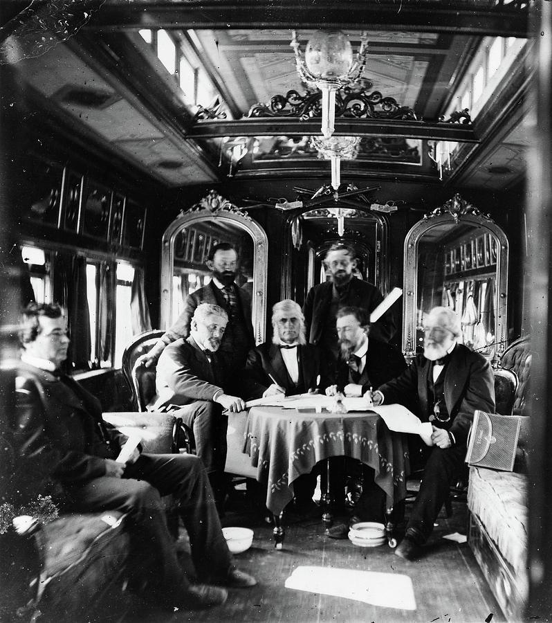 1868 Photograph - Railroad Directors, C1868 by Granger