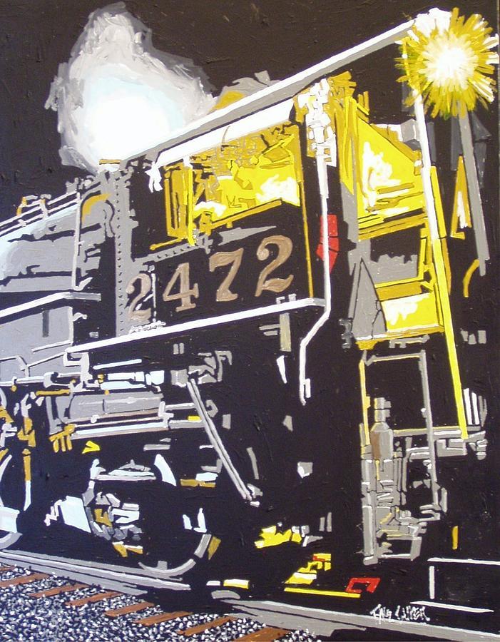 Sacramento Painting - Railroad Museum by Paul Guyer
