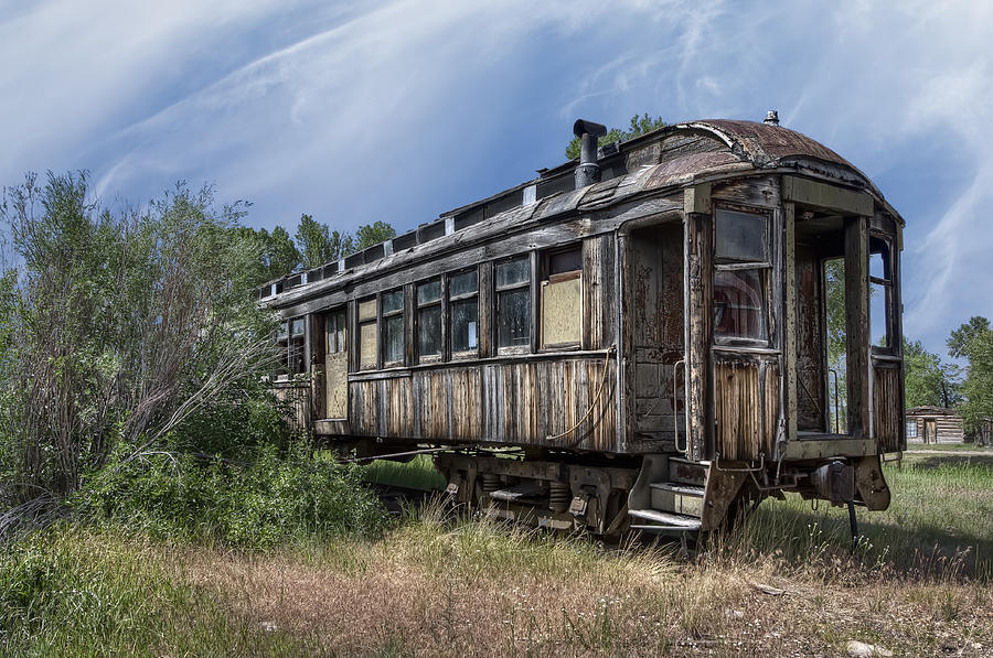 Railroad Passenger Coach Nevada City Montana Photograph By Daniel Hagerman