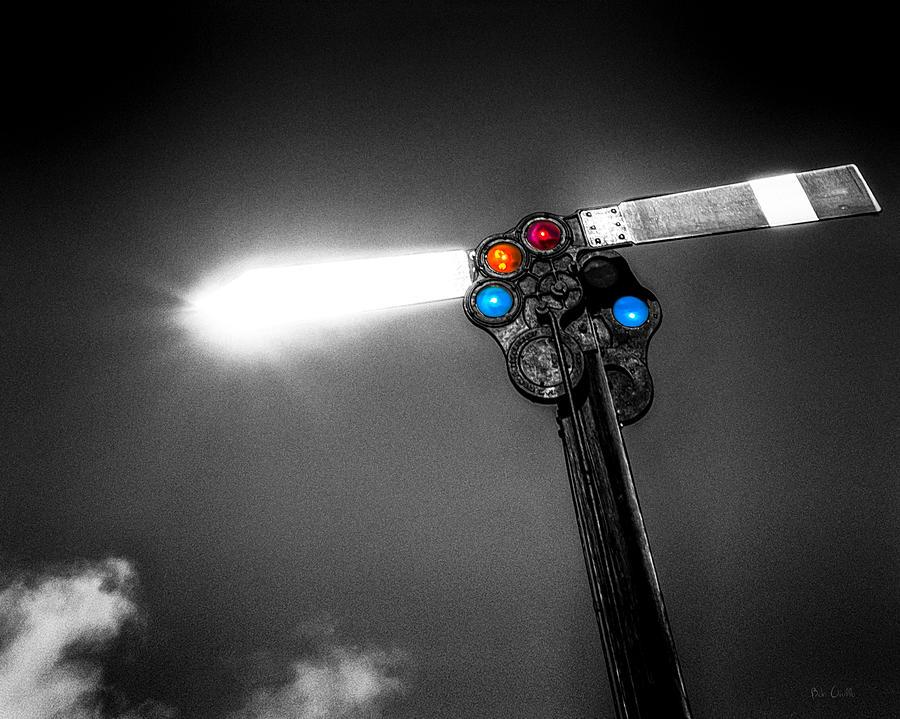 Trains Photograph - Railroad Signal by Bob Orsillo
